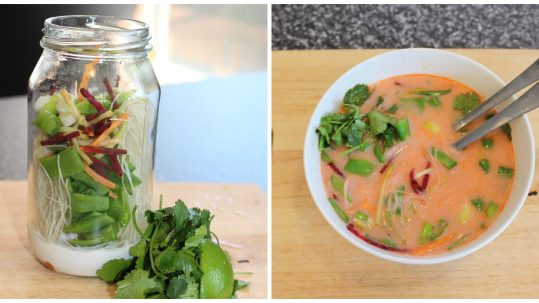 glass jar noodles